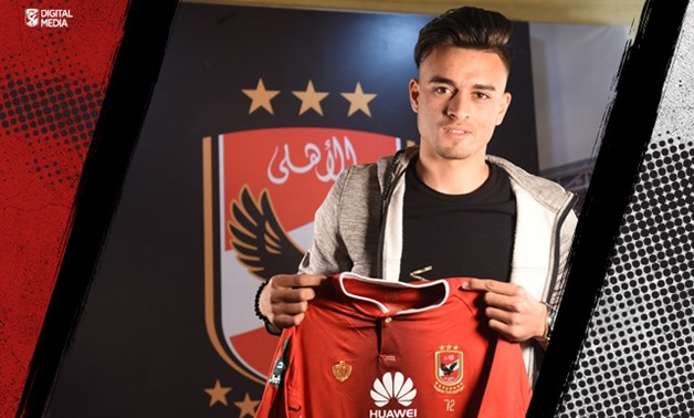 Salah Mohsen with Al Ahly's jersey, Courtesy of Al Ahly's official website