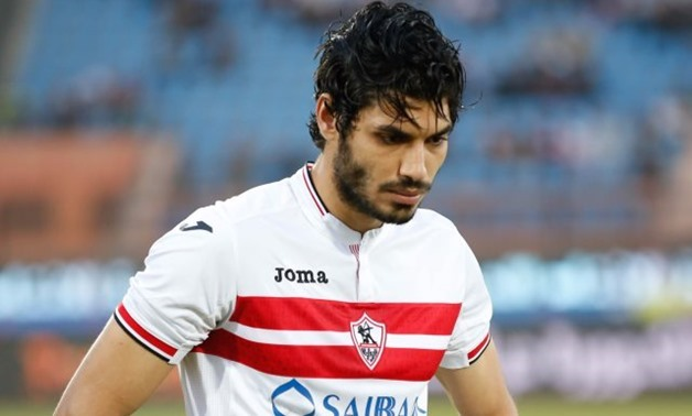 FILE - former Zamalek player and West Bromwich Albion's new signing Ali Gabr