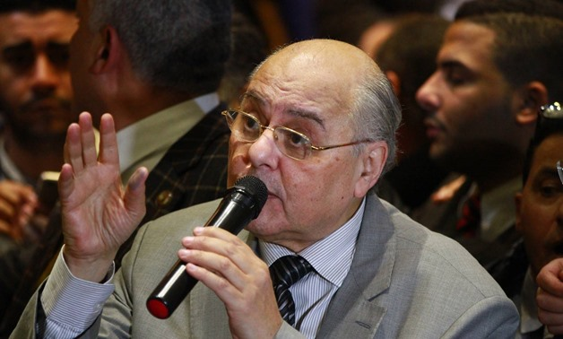 Moussa Mostafa Moussa in a press conference after submitting his candidacy for 2018 presidential election on Monday - Egypt Today/ Hussein Tallal