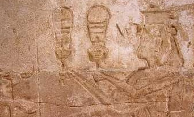Queen Twosert playing the sistrum at Amada Temple, Nubia – Photo Courtesy of Wikipedia
