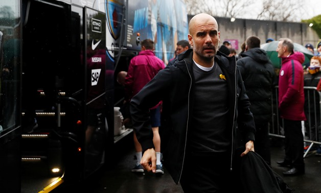 Soccer Football - Premier League - Burnley vs Manchester City - Turf Moor, Burnley, Britain - February 3, 2018 Manchester City manager Pep Guardiola arrives before the match Action Images via Reuters/Jason Cairnduff