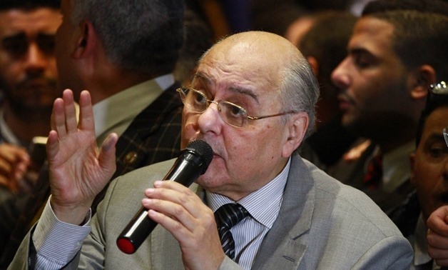 Moussa Mostafa Moussa in a press conference after submitting his candidacy for 2018 presidential election - Egypt Today/ Hussein Tallal