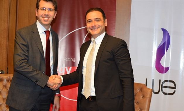 TELECOM Egypt's CEO Ahmed el-Beheiry and Vodafone Egypt's CEO Alexander Froment-Curtil - Telecom Egypt's Website