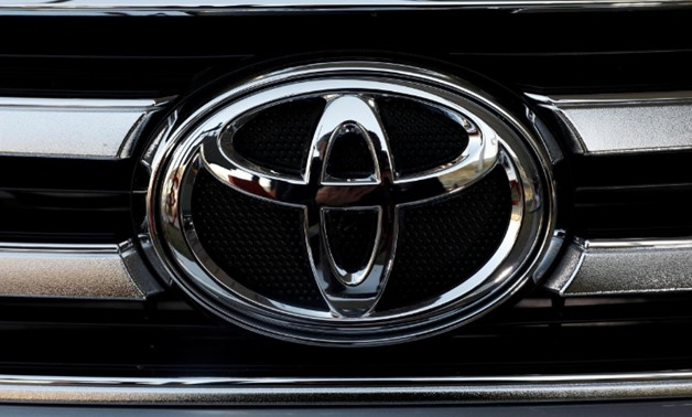 FILE PHOTO: A Toyota Motor Corp. logo is seen on a car at the International Auto Show in Mexico City, Mexico November 23, 2017. REUTERS/Henry Romero/File Photo
