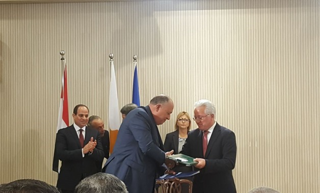 Egyptian, Cyprus Foreign Ministers sign cooperation agreements in different levels - Egypt Today