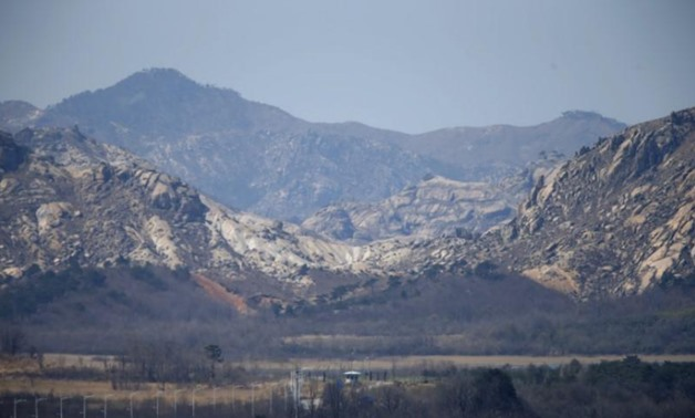 A N. Korean guard post on the road leading to N. Korea's Mount Kumgang in the demilitarized zone separating the two Koreas April 11, 2013. REUTERS/Lee Jae-Won
