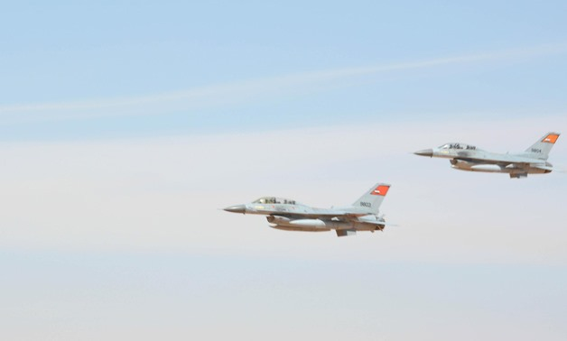 Egypt's Air forces launched a full-scale offensive against militants in North and Central Sinai on Friday, February 9,2018- Phoro courtesy of the Armed Forces Spokesperson's Facebook page