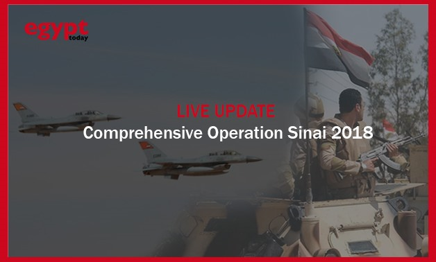Egypt's Air forces launched a full-scale operation against militants in North and Central Sinai on Friday, February 9,2018- Egypt Today/ Mohamed Ezzat