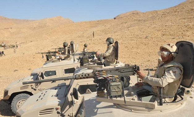 Egyptian troops in Sinai – Courtesy of Army spokesperson's official Facebook page