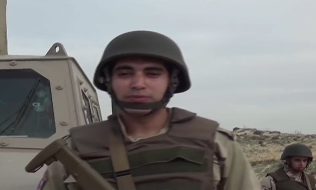 An Egyptian soldier – Footage from military spokesman's video on Facebook