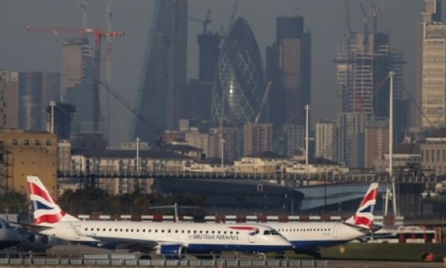 London City Airport was closed on Monday after a World War II bomb was found in the neighbouring dock - AFP