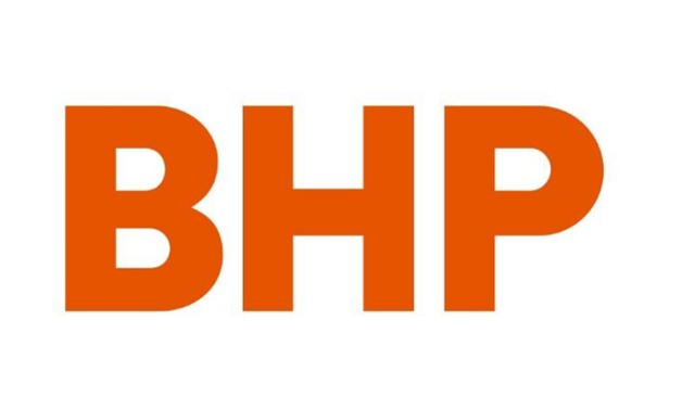 FILE PHOTO: Australian mining company BHP's new corporate logo, released to Reuters from their Melbourne, Australia, headquarters May 15, 2017. BHP/Handout via REUTERS