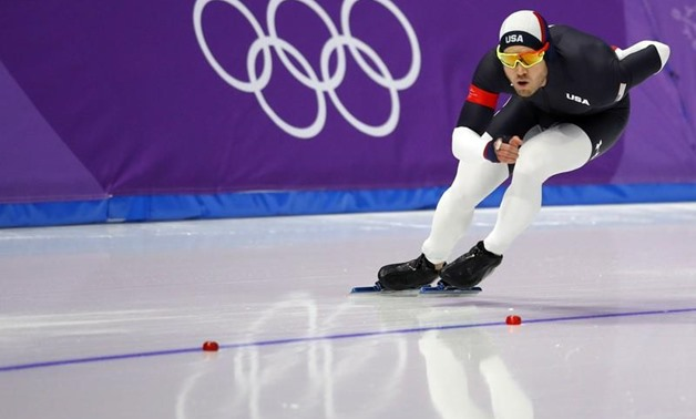 Gangneung Oval - Gangneung, South Korea – February 13, 2018 - Joey Mantia of the U.S. competes. REUTERS/Phil Noble