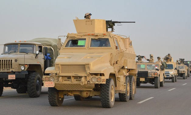 Egyptian military forces are attacking terrorists in Sinai during the full-scale operation dubbed Sinai 2018 (Egypt's Armed Forces Official Website)