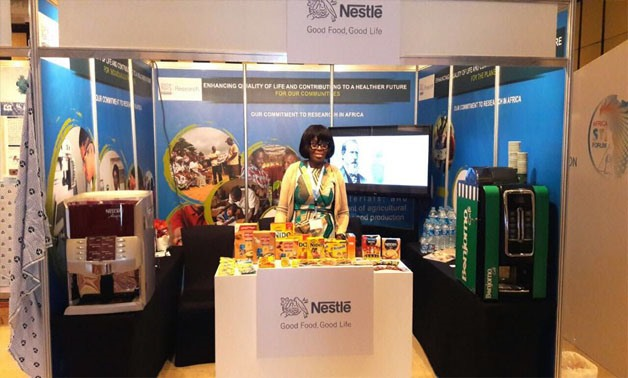 Nestlé's booth at the Africa STI Forum - Press photo