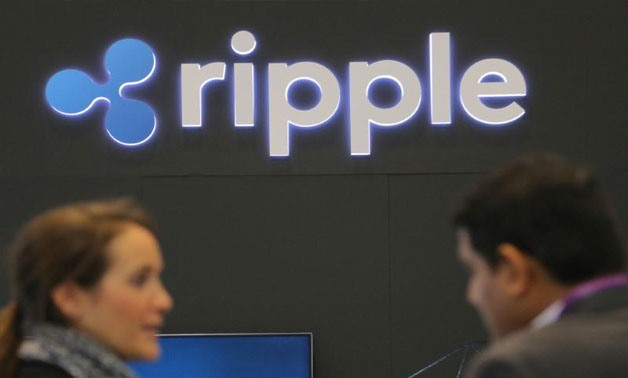 The logo of blockchain company Ripple is seen at the SIBOS banking and financial conference in Toronto, Ontario, Canada October 19, 2017 - REUTERS/Chris Helgren/File photo