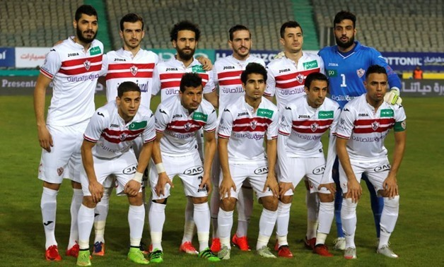 Soccer Football - Egyptian Premier League - Zamalek vs Al Ahly - Cairo International Stadium, Cairo, Egypt - January 8, 2018 Zamalek team group before the match - REUTERS/Amr Abdallah Dalsh