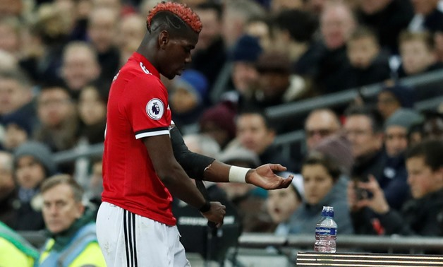 Soccer Football - Premier League - Tottenham Hotspur vs Manchester United - Wembley Stadium, London, Britain - January 31, 2018 Manchester United's Paul Pogba looks dejected as he is substituted - REUTERS/Eddie Keogh
