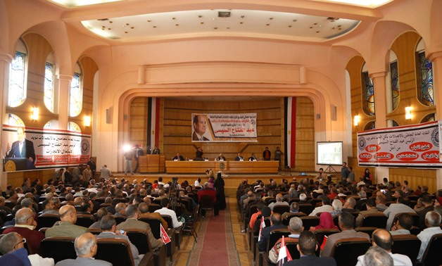 Egyptian workers union held a conference on Sunday to announce supporting President Abdel Fatah al-Sisi to run for a second presidential term, asserting that this decision came out of their love for Egypt - Karem Abdelaziz