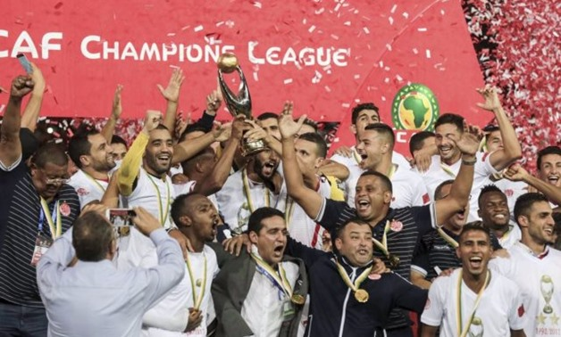 FILE - Wydad Athletic Club players celebrating CAF Champions League