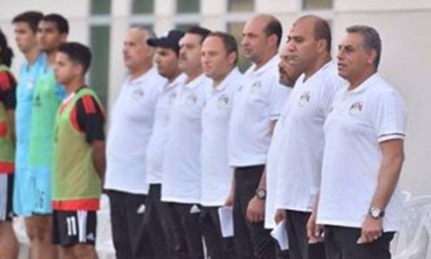 FILE - Egyptian youth team coaching staff