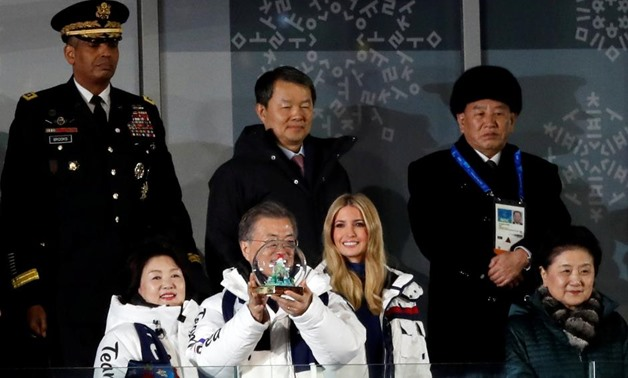Pyeongchang 2018 Winter Olympics - Closing ceremony - Pyeongchang Olympic Stadium - Pyeongchang, South Korea - February 25, 2018 - President of the International Olympic Committee Thomas Bach, Ivanka Trump, senior White House adviser, and member of the No