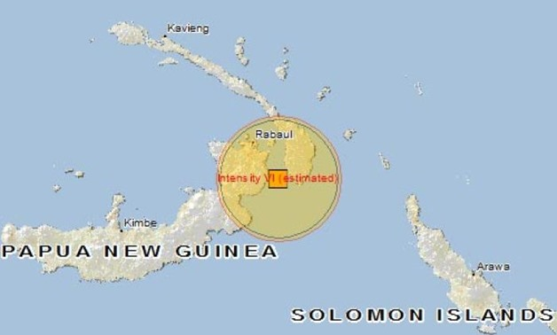 A map showing the location of a PNG earthquake - AFP