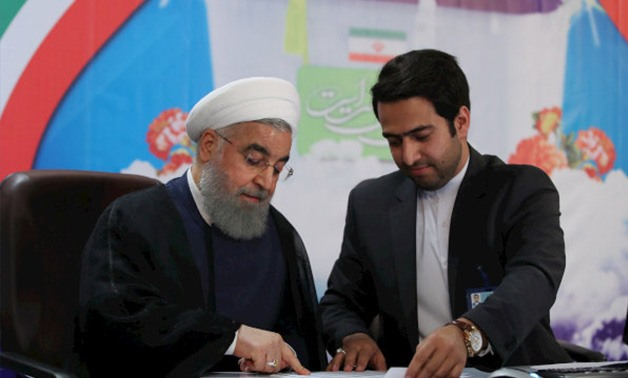 Iranian President Hassan Rouhani register for Iran elections- Photo via Reuters