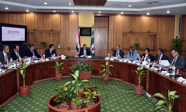 Petroleum Minister Tarek el-Molla during the first meeting of the gas regulatory authority on February 27, 2018 - Press photo