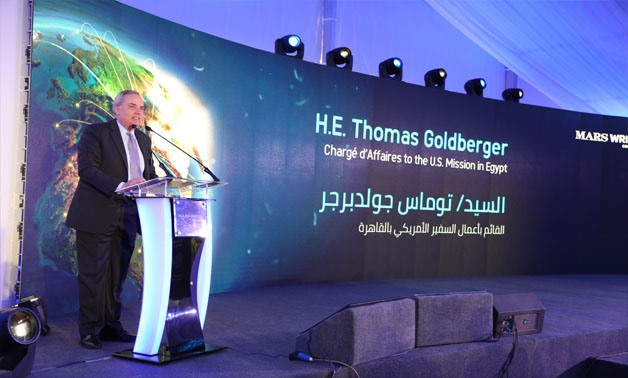 Chargé d'Affaires at the U.S. Embassy in Cairo Thomas Goldberger during a ceremony marking Mars' expansion in Egypt on February 27, 2018 - Press photo