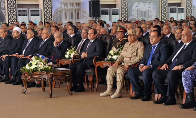 resident Abdel Fatah al-Sisi during his speech at the inauguration of El Alalmein City and other projects- press photo
