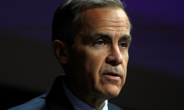 The Governor of the Bank of England, Mark Carney, speaks to the Scottish Economics Forum, via a live feed, in central London, Britain March 2, 2018. REUTERS/Peter Nicholls