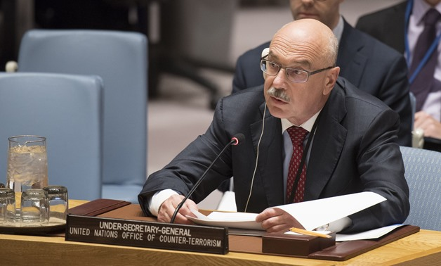 Vladimir Voronkov, Under-Secretary-General of the United Nations Counter-Terrorism Office, addresses the Security Council meeting on threats to international peace and security caused by terrorist acts, November 28 - Press Photo