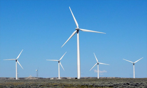 A finished wind turbine complex is shown in southern Wyoming, U.S. on July 21, 2009 - REUTERS/Ed Stoddard/File Photo