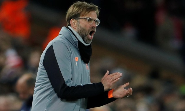 Soccer Football - Champions League Round of 16 Second Leg - Liverpool vs FC Porto - Anfield, Liverpool, Britain - March 6, 2018 Liverpool manager Juergen Klopp Action Images via Reuters/Lee Smith