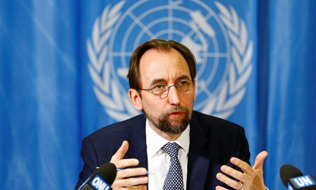 United Nations High Commissioner for Human Rights Zeid Ra'ad al-Hussein of Jordan speaks during a news conference at the United Nations European headquarters in Geneva, Switzerland, May 1, 2017. REUTERS