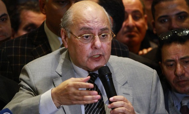FILE - Chairperson of El Ghad Party Moussa Mostafa Moussa in a press conference after running for Presidential election, on Monday, 29 January 2018- Egypt Today/Hussein Tallal