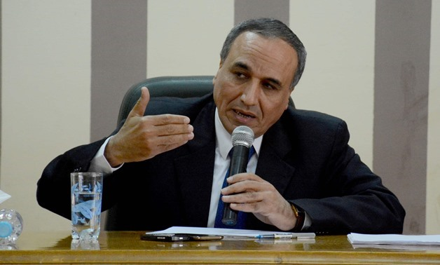 File-Head of the Journalists Syndicate Abdel Mohsen Salama
