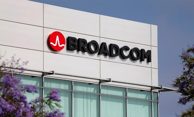 Broadcom Limited company logo is pictured on an office building in Rancho Bernardo, California May 12, 2016 -
