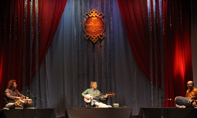 Ustad Amjad Ali Khan performing at sixth India by the Nile festival – Photo by Fatma Khaled