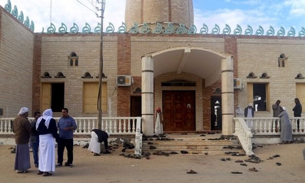 FILE: Al-Rawda Mosque after the November 2017 attack