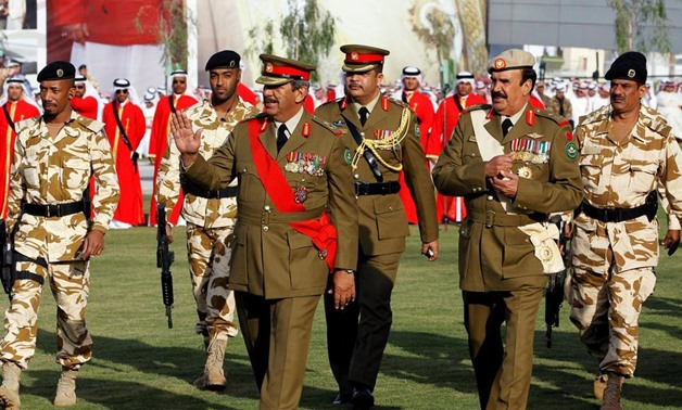 Field Marshal Sheikh Khalifa bin Ahmed Al Khalifa, left, commander-in-chief of Bahrain's defence forces, was the target of an assassination plot for which six men were sentenced to death on December 25, 2017. Hamad I Mohammed / Reuters