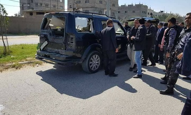 Site of explosion in Gaza strip after entrance of Prime Minister Ramy Hamadallah's convoy - Maan news agency