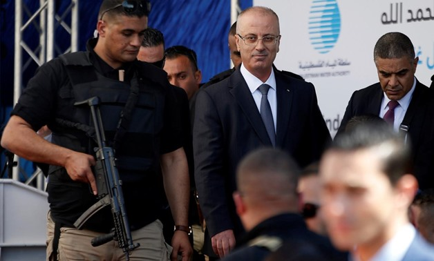 Palestinian Prime Minister Rami Hamdallah arrives at the inauguration ceremony of a waste treatment plant after an explosion targeted his convoy, in the northern Gaza Strip March 13, 2018. REUTERS/Mohammed Salem