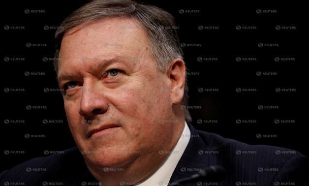 FILE PHOTO: Central Intelligence Agency (CIA) Director Mike Pompeo testifies before the Senate Intelligence Committee on Capitol Hill in Washington, DC, U.S., February 13, 2018. REUTERS/Aaron P. Bernstein/File Photo