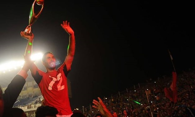 Mohamed Aboutrika celebrates his last African title with Al Ahly, CAF official account on twitter