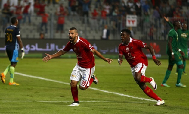 Football Soccer - CAF African Champions League - Egypt's Al Ahly v Tanzania's Young Africans - Borg El Arab Stadium, Alexandria, Egypt - 20/4/2016 - Abdallah El Said of Egypt's Al Ahly celebrates his goal. REUTERS/Amr Abdallah Dalsh Picture Supplied by Ac