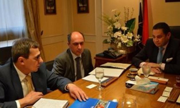 Part of the meeting between Ambassador of Ukraine to Cairo Hinadi Lati and Minister of Public Enterprise - Khaled Badwi / Press photo