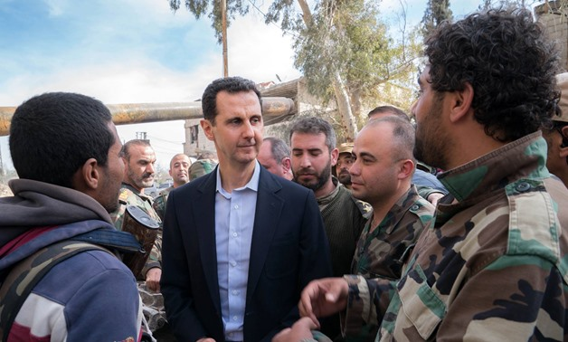 Syrian President Assad visits army positions in eastern Ghouta