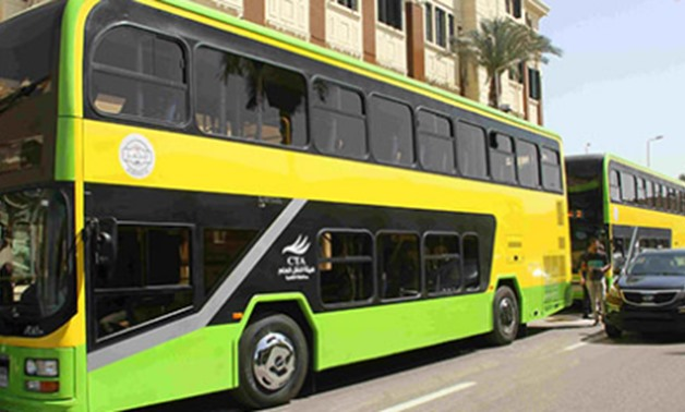 The first batch of air-conditioned and locally produced double-decker buses started operating on Saturday in Cairo's streets - Press photo
